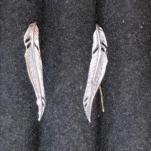 Cameron Dakota Jewelry - Feather Wings Angel Sterling Silver 925 Earrings